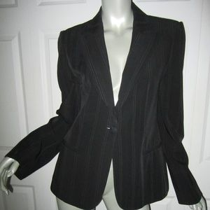 GIORGIO ARMANI Black Label Striped Jacket Size 46